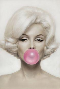"Pop! Pop! Marilyn ""Pink Bubble Gum"" by Michael Moebius"