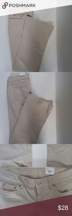 SO khakis, juniors 7 long