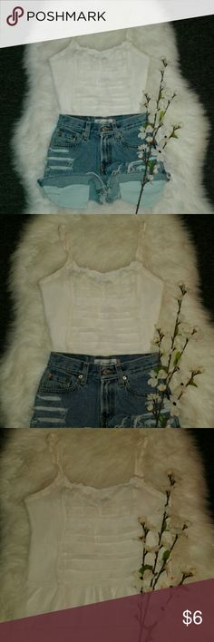 """AE Ivory Sheer Multiway Blouse Excellent condition  No flaws Shell: 100% polyester Lining: polyester interior lining Multiway straps Bust: 16"""" (arm pit to arm pit) Length: 20.5"""" (shoulder to bottom hem) American Eagle Outfitters Tops Blouses"""
