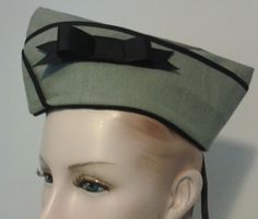 Dieselpunk Military Hat Steam Punk Hat with Bow by MGDclothing, $24.95