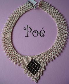 Poé gyöngyei - Éva Pálné - Picasa Web Albümleri Handmade Beads, Handmade Jewelry, Beaded Jewelry Patterns, Beaded Necklace, Necklaces, Bracelets, Seed Beads, Antique Silver, Silver Jewelry