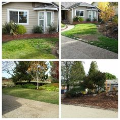 Ed & Barbro's front yard -- Ahmed's neighbors under $5k new front yard redo completed in December 2014. #GoGreenWithAhmed #TeamAhmedTV Yard Crashers, Beautiful Collage, Diy Network, December 2014, Landscape Design, Landscaping, Projects, Log Projects, Blue Prints