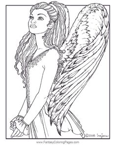 64 Best Angels Coloring Pages for Adults images | Angel ...