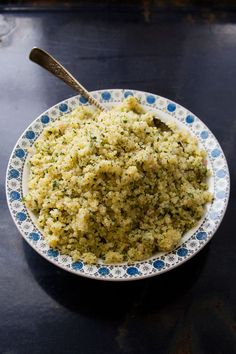 Herbed Lemon Quinoa by saveur #Quinoa #Shallots #Lemon #Parsley #Healthy