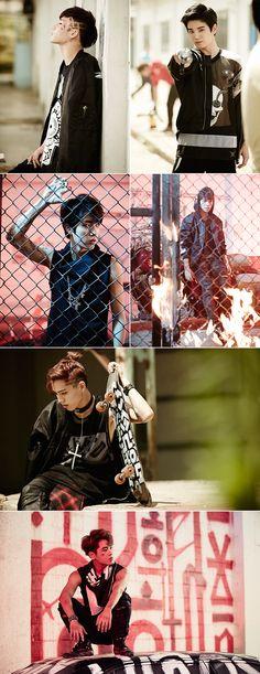 {Infinite's Woohyun, Sungyeol, Sungkyu, Sungjong, Dongwoo, Hoya}