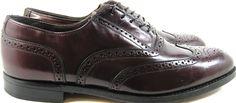 Dexter Men Wingtip Cordovan Oxford Dress Shoes Size 9.5 Burgundy USA. #Dexter #WingTip