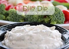 This Dilly Dip is the best, easiest, and yummiest veggie dip ever! Do you need a relish tray for a Party or any get together? Dilly Dip is so fast and easy.