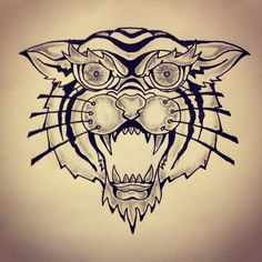 Tiger tattoo sketch by - Ranz