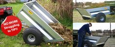 Mechanical Tipping Trailer - Quad Accessories/ATV Accessories for Farm Quads