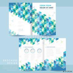 ベクター: abstract half-fold template design点