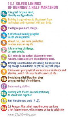 13.1 Reasons Why I love a Half-Marathon!  http://www.thesilverpen.com/2013/01/14/13-1-reasons-why-i-love-half-marathons/