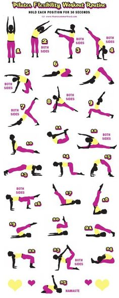 Stretching workout - takes about 20 minutes max and is great for an end of the week workout that you want to be easy and help with soreness.