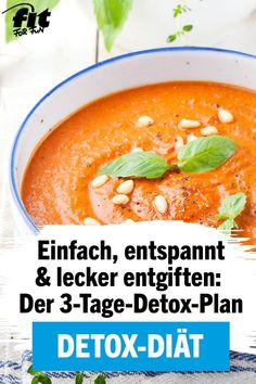Detox Diet: The 3 Day Detox Plan - Fit For Fun Food - # .-Detox-Diät: Der – Fit For Fun Food – Detox diet: the detox plan – fit for fun food – # the # Detox diet - Detox Plan, 3 Day Detox, Diet And Nutrition, Health Diet, Paleo Diet, Detox Diet Drinks, Smoothie Detox, Diet Detox, Cleanse Diet