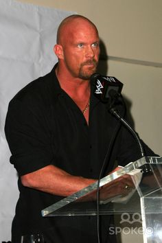 Stone Cold Steve Williams Actor | Stone Cold Steve Austin and Vince McMahon at the WWE press conference ...