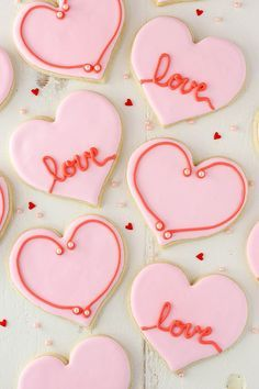 Valentine S Day Heart Cutout Cookies Recipe Heart Shaped Sugar Cookies Valentine Cookies Decorated Valentine Cookies