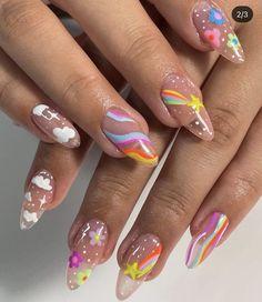 Chic Nail Art, Chic Nails, Stylish Nails, Swag Nails, Crazy Nails, Funky Nails, Gorgeous Nails, Pretty Nails, Hippie Nails