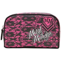 Metal Mulisha Dolled Up Makeup Travel Bag ❤ liked on Polyvore featuring beauty products, beauty accessories, bags & cases, purse makeup bag, cosmetic purse, metal mulisha, cosmetic bags and make up bag