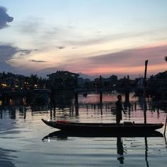 Sunset on the Thu Bon River Hoi An, Vietnam Collage of Life