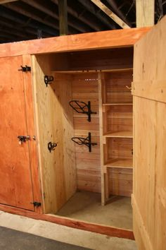 Tack locker - could be done in small horse barn instead of full size tack room