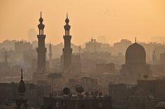 Cairo Skyline as seen from the Al-Azhar Mosque minaret via Flickr