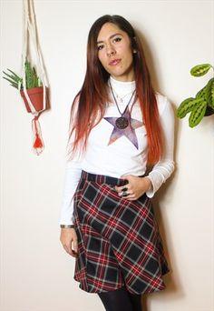 Reworked+Vintage+Tartan+Mini+Skirt