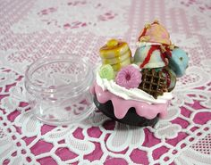 SWEET DECO-Ice Cream Dessert Yummy Decoration The Top Jars W35xH60mm Clay Japan For all making needs  by Bliss Decoden, via Flickr