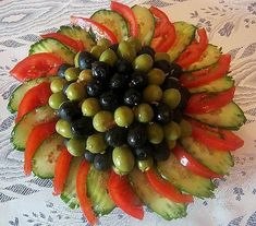 Olives & Veges Serving Idea