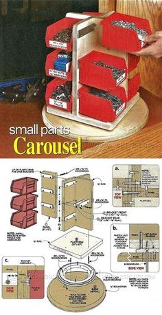Small Parts Carousel Plan - Workshop Solutions Plans, Tips and Tricks   WoodArchivist.com