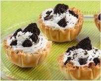 Cookies and Cream Mini Phyllo Shells