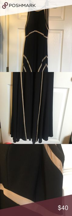 Black/nude long dress Black with sheer nude accent, worn once Dresses