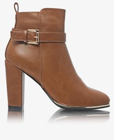 Ankle Boots - Tan Urban Fashion, Ankle Boots, Booty, Heels, Ankle Booties, Heel, Swag, High Heel, Urban Street Fashion