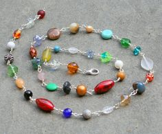 Necklaces Handmade Multi stone hand wired by debsdesigns401 on Etsy