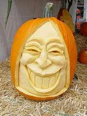 Face Smile Pumpkin Carving Ideas