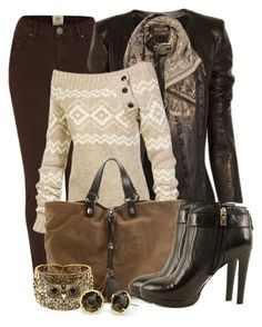 """Chocolate Denim~"" by tammylo-12 ❤ liked on Polyvore featuring River Island, Roberto Cavalli, LolÃ«, Francesco Biasia, Tory Burch and Amrita Singh"