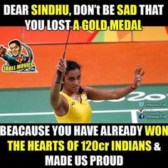 PV Sindhu claims HISTORIC SILVER. First #badminton player from #IND to win silver #Rio2016 #make_us_proud