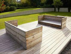 Inredningsarkitekt Karin - Inredningsbloggar – Hus & Hem Outdoor Garden Decor, Garden Seating, Garden Furniture, Diy Furniture, Outdoor Furniture, Creative Decor, Outdoor Areas, Dream Garden, Modern