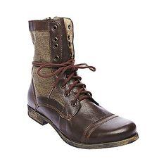 TRACKKER BROWN LEATHER men's boot casual oxford - Steve Madden