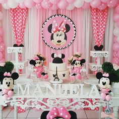 Minnie Mouse Birthday Backdrop (Baby & Kids) in West . Theme Mickey, Minnie Mouse Theme Party, Minnie Mouse 1st Birthday, Minnie Mouse Baby Shower, Minnie Mouse Pink, Mickey Party, Mouse Parties, Party Decoration, Birthday Decorations