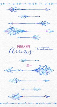 12 Watercolor Hand painted Clipart by OctopusArtis Hand Tattoos, Wörter Tattoos, Arrow Tattoos, Cute Tattoos, Beautiful Tattoos, Body Art Tattoos, Tatoos, Ice Tattoo, Frozen Tattoo