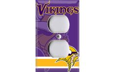 Minnesota Vikings Football Outlet Cover by Crazy8Zdecor on Etsy, $6.99