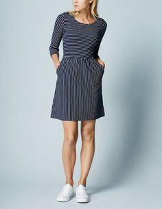 8f9c459043 Janie Summer Dress Navy Ivory Women Boden