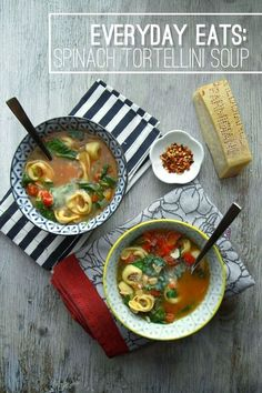 Spinach Tortellini Soup @FoodBlogs