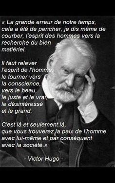 Victor Hugo ~ citation français ~ Plus Life Quotes Love, Best Quotes, Citations Victor Hugo, Quote Citation, French Quotes, Some Words, Positive Attitude, Human Rights, Words Quotes