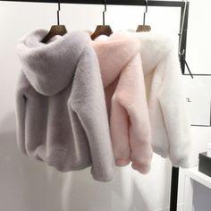 Buy 10 Color Winter New Faux Mink Long Sleeve Women Fur Coat Hooded Zipper Classic Generous Golden Ratio Warm Practical Fur Jacket Look Fashion, Fashion Outfits, 90s Fashion, Fashion Clothes, Fashion Beauty, Fashion Images, Dress Fashion, Fashion Women, Fashion Ideas