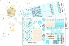 Planner Sticker Weekly Kit Blue Bird for your Erin Condren Life Planner, Plum…