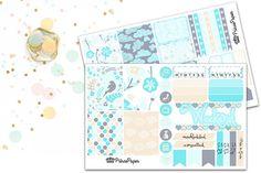 Planner Sticker Weekly Kit Blue Bird for your Erin Condren Life Planner, Plum…