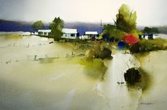 Amazing Watercolor Paintings by Australian artist John Lovett Watercolor Artists, Watercolor Techniques, Watercolor Landscape, Watercolour Painting, Landscape Paintings, Watercolours, Watercolor City, Watercolor Portraits, Abstract Paintings