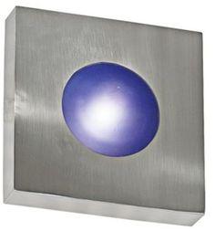 modern blue wall sconce