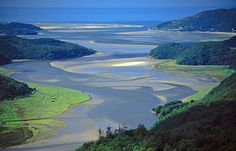 Sunlight on the Mawddach Estuary, Wales Great Places, Places To See, Wales, England Uk, Real People, Natural World, Great Britain, Cymru, River