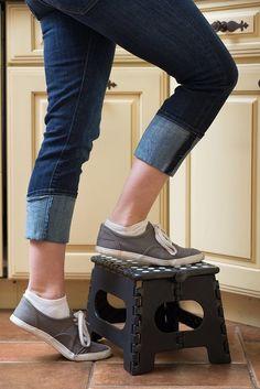 9  Folding Step Stool Anti Slip Surface Carrying Handle Travel Backyard Home Use #EPI & NEW 4 Step Aluminium Boarding Ladder Folding Pontoon Boat ... islam-shia.org